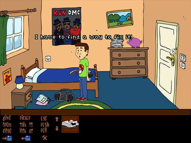 Zoomed screenshot of NES Quest