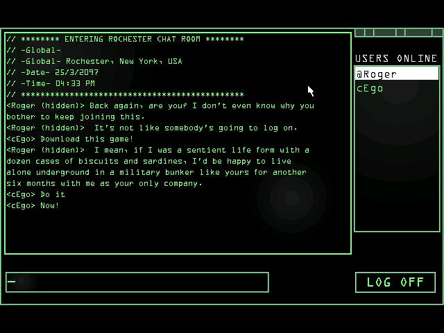 Zoomed screenshot of Chatroom