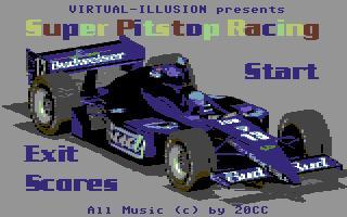 Zoomed screenshot of Super Pitstop Racing