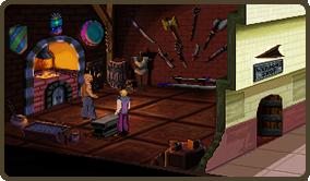 Zoomed screenshot of Quest for Glory II VGA: Trial By Fire