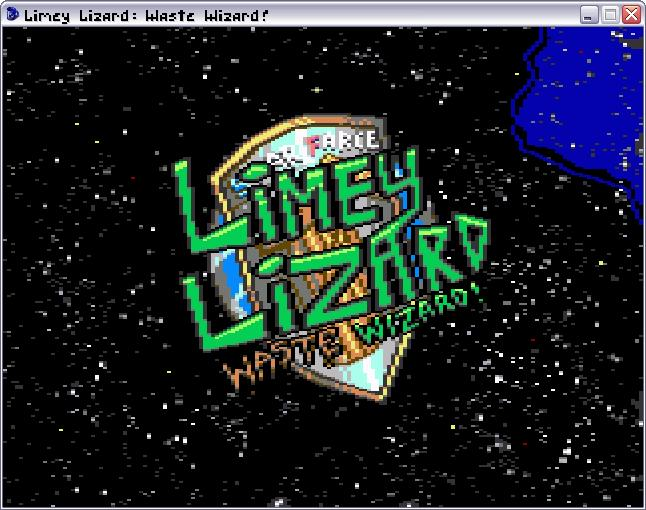 Zoomed screenshot of Limey Lizard: Waste Wizard!