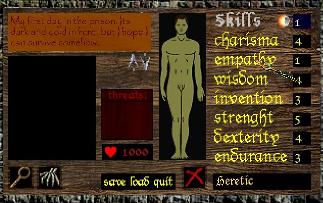 Zoomed screenshot of Medieval Prisoner