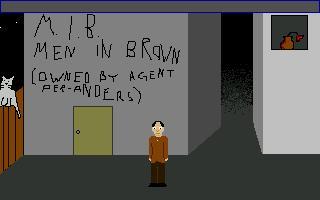 Zoomed screenshot of Men In Brown
