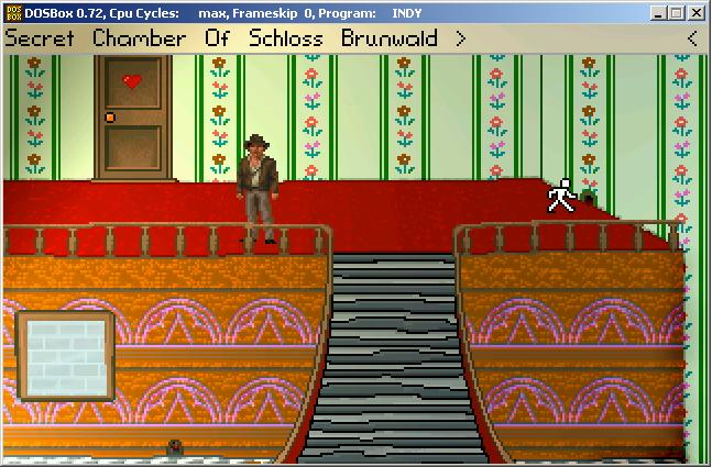 Zoomed screenshot of Indiana Jones and the Secret Chamber of Schloss Brunwald