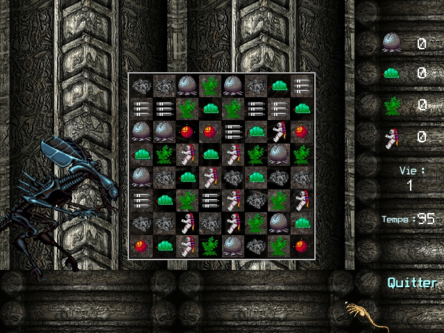 Screenshot of Alien : Puzzle Invasion
