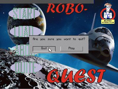 Zoomed screenshot of ROBO-QUEST 2009