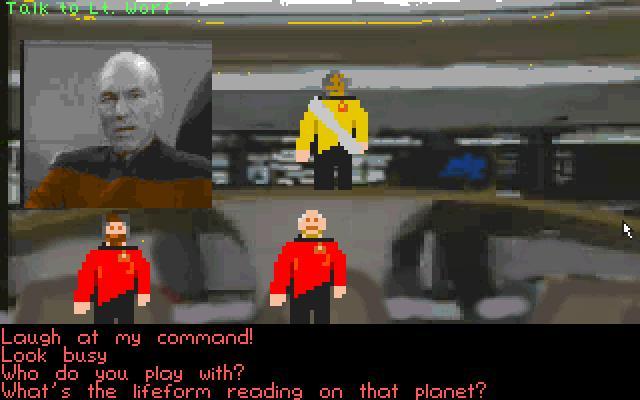 Zoomed screenshot of Star Trek The Next Generation