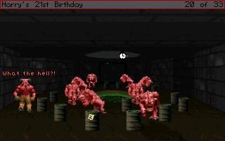 Screenshot of Harry's 21st Birthday