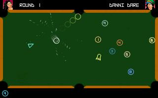 Zoomed screenshot of Space Pool Alpha