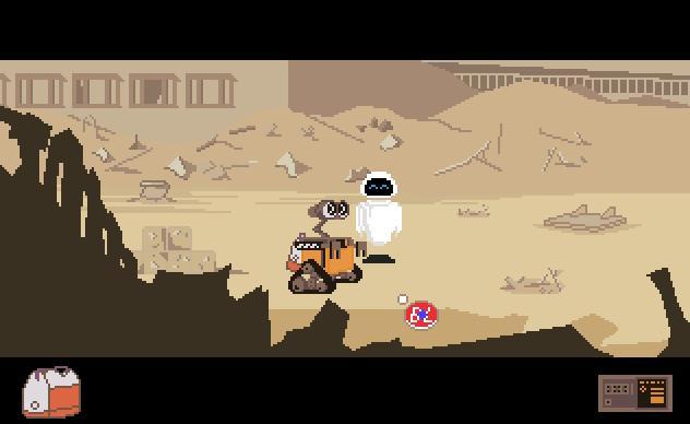 Zoomed screenshot of Wall-E (Fan Game)