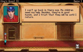 Screenshot of King's Quest IX: The Silver Lining VGA (Demo I)