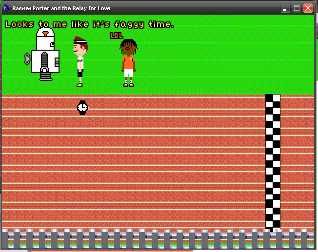 Zoomed screenshot of Ramses Porter and the Relay for Love
