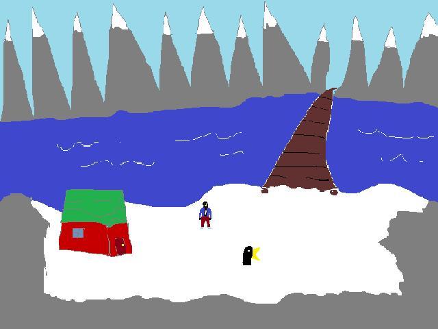 Zoomed screenshot of Lance the Penguin