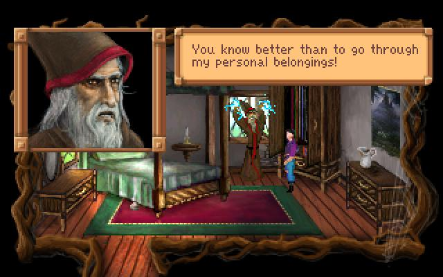 Zoomed screenshot of King's Quest III Redux: To Heir Is Human