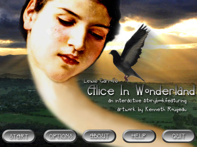 Zoomed screenshot of Lewis Carroll's Alice In Wonderland (an interactive storybook)