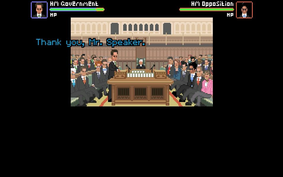 Zoomed screenshot of Prime Minister's Questions: The Game