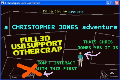 Zoomed screenshot of A Christopher Jones Adventure