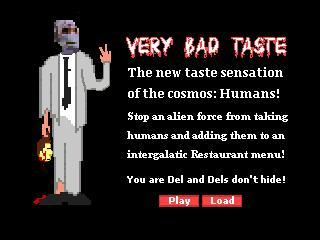 Zoomed screenshot of Very Bad Taste:  Dels don't hide!