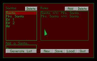 Screenshot of Secret Santa Generator