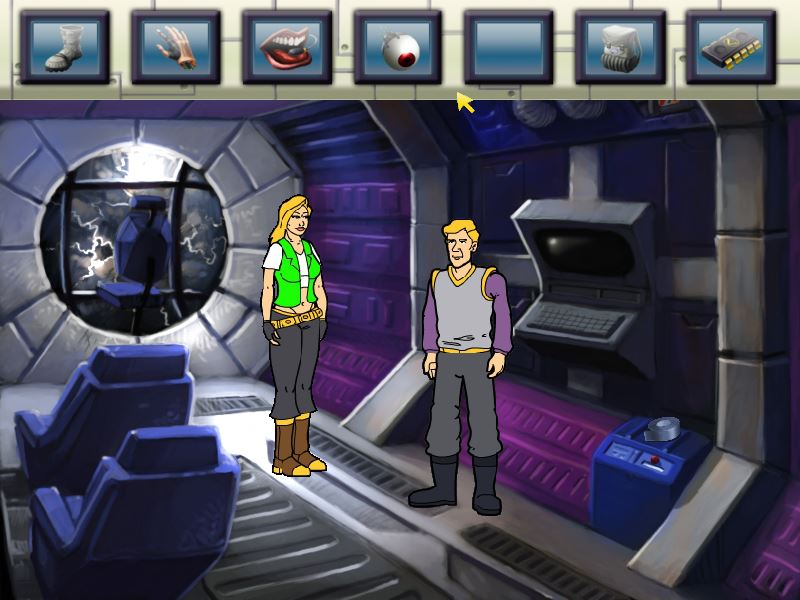 Zoomed screenshot of Space Quest: Vohaul Strikes Back
