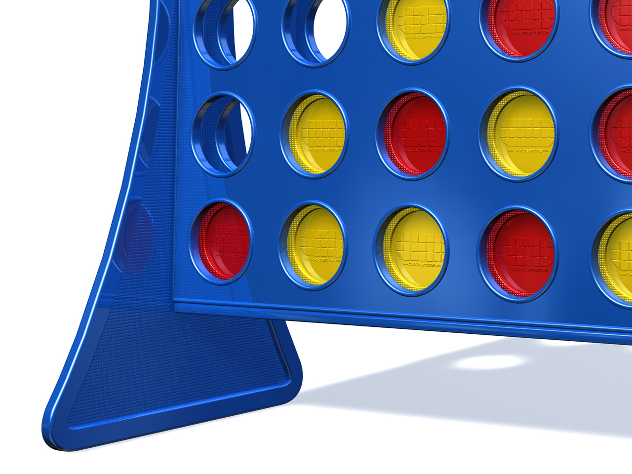 Zoomed screenshot of Connect 4 v.2.1
