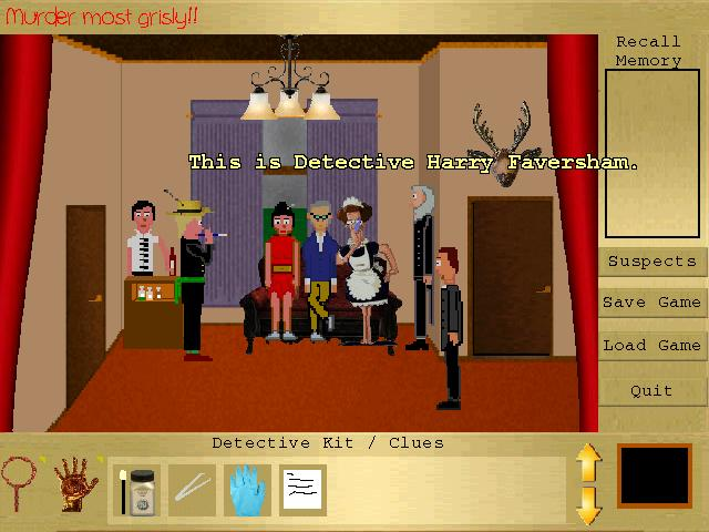 Zoomed screenshot of Murder Most Grisly!! Whodunit?