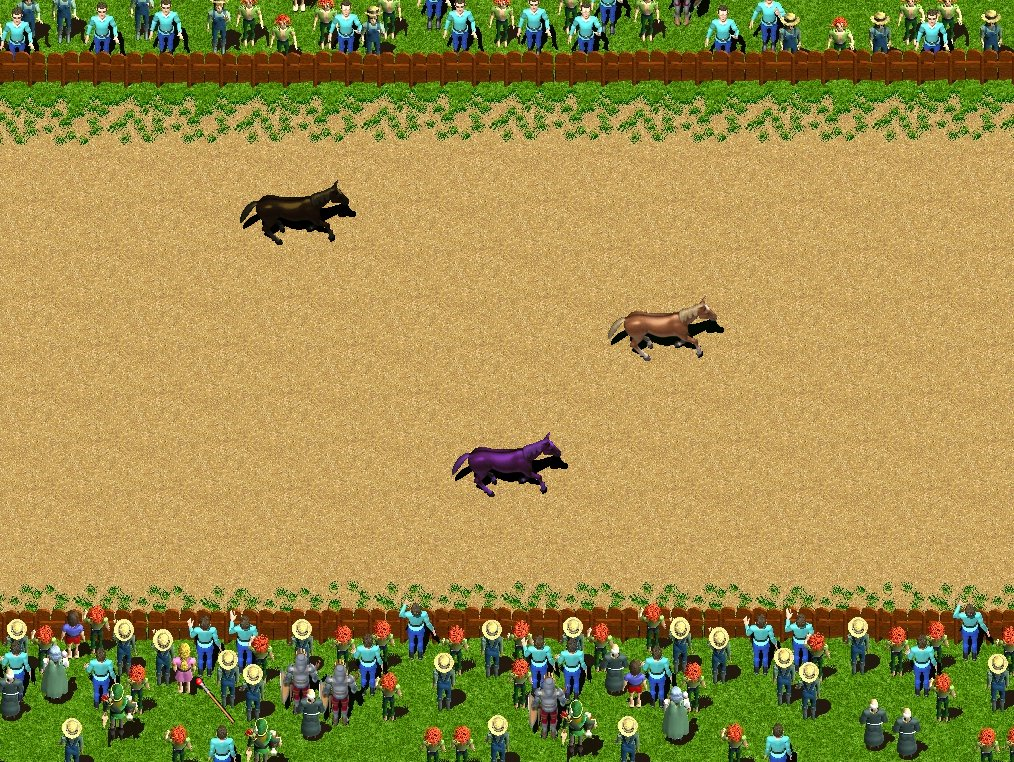 Zoomed screenshot of Horse Park Fantasy