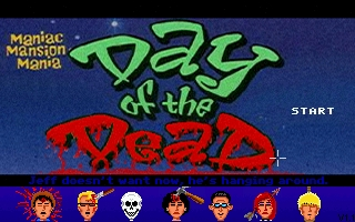 Zoomed screenshot of Maniac Mansion Mania - Halloween 2005 Episode 3 - Day of the Dead