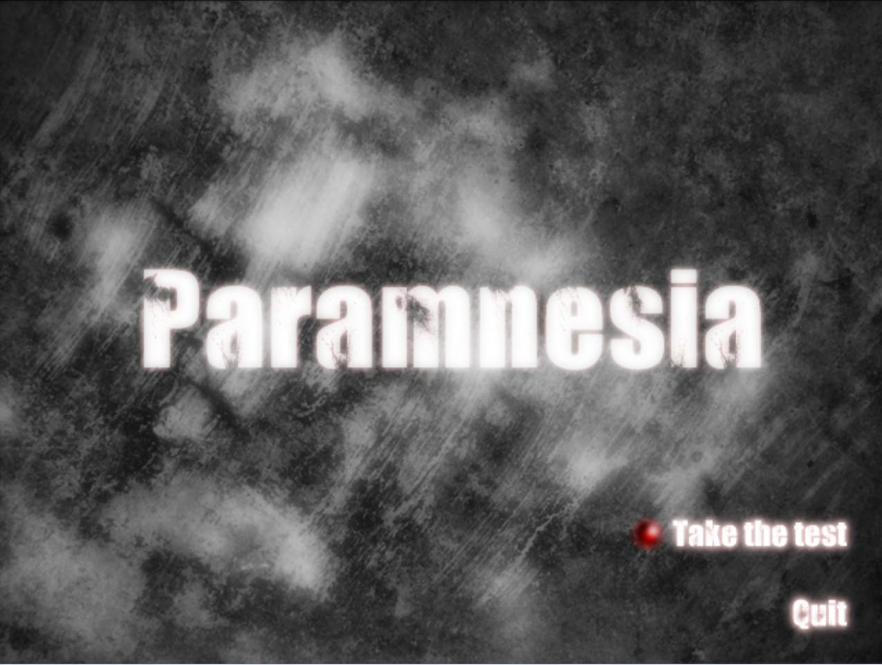 Zoomed screenshot of Paramnesia - DEMO