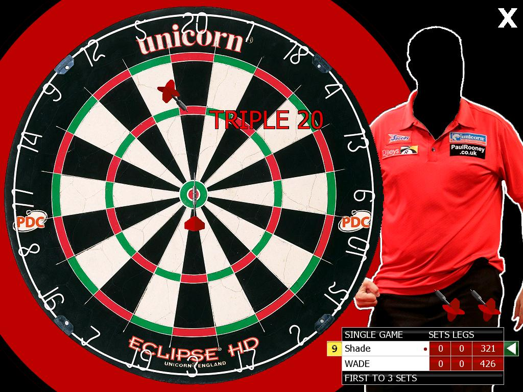 Zoomed screenshot of AGS 180 Darts 2