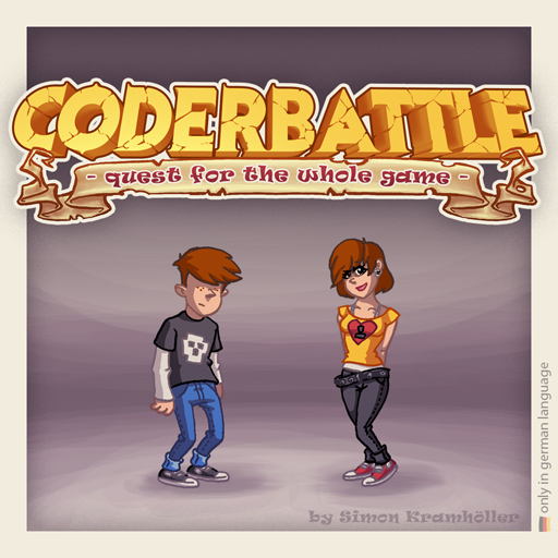 Zoomed screenshot of CODERBATTLE - quest for the whole game -