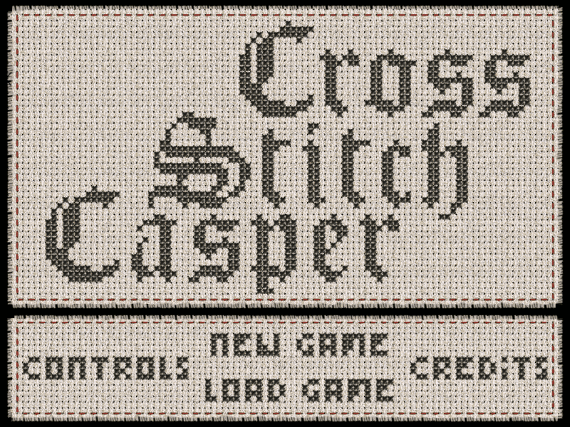 Zoomed screenshot of Cross Stitch Casper