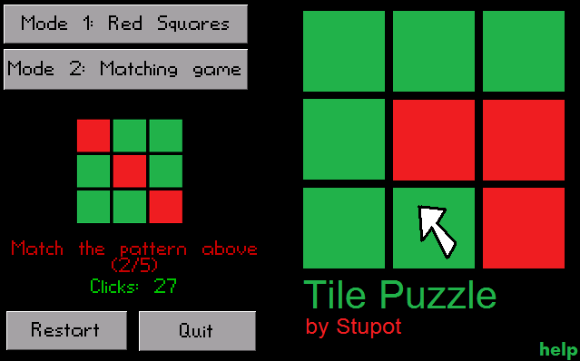 Zoomed screenshot of Tile Puzzle