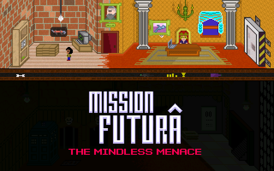 Zoomed screenshot of Mission Futura - The Mindless Menace