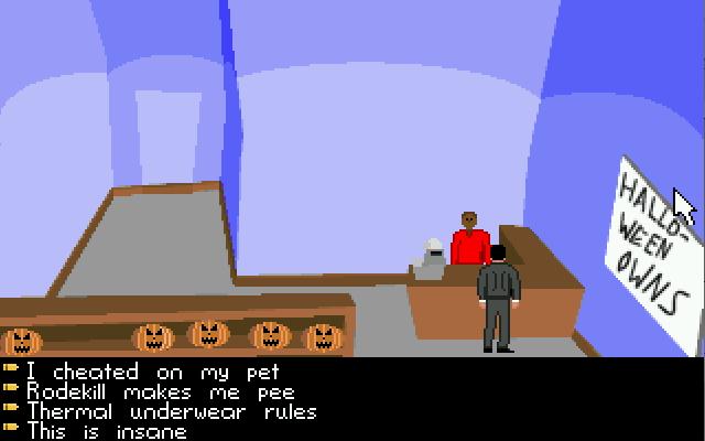 Zoomed screenshot of James Bondage