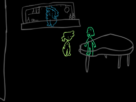 Screenshot 1 of Play It Again: An Improv Point & Click Adventure