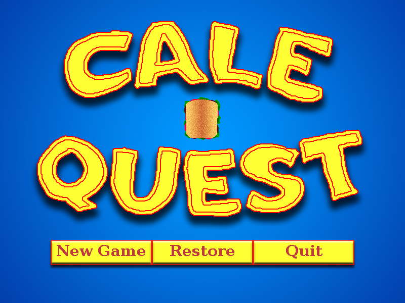 Zoomed screenshot of Cale Quest