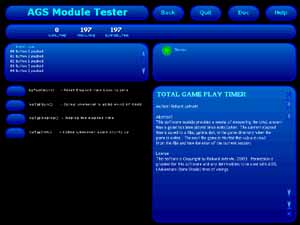 Zoomed screenshot of Module Tester