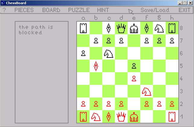 Zoomed screenshot of ChessBoard
