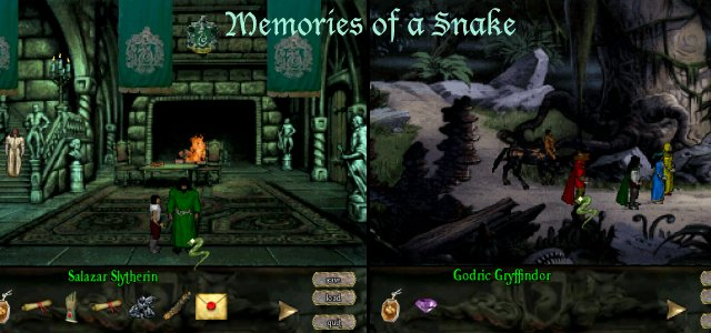 Zoomed screenshot of Memories of a Snake