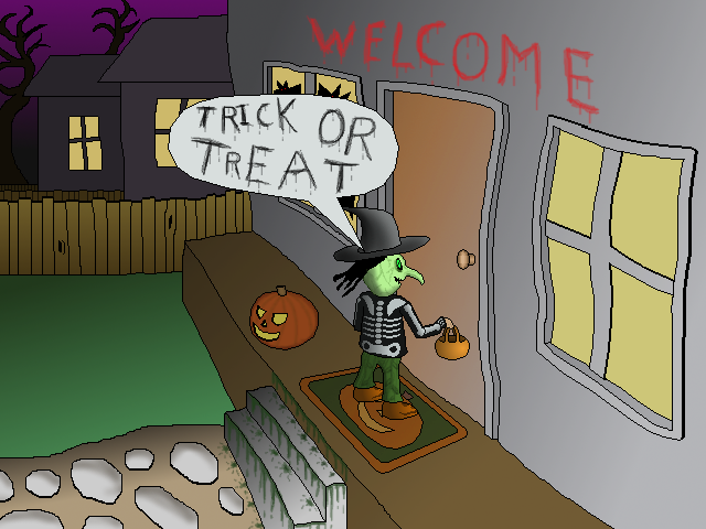 Zoomed screenshot of T.O.T.S: Trick-Or-Treat Simulator