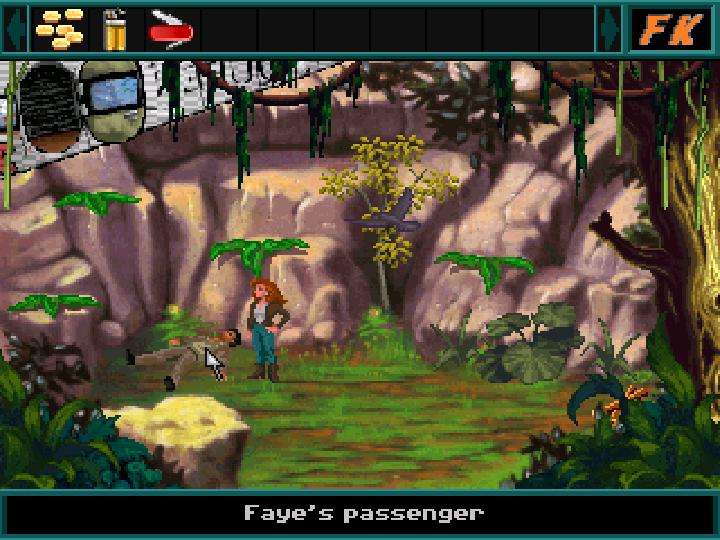 Zoomed screenshot of Faye King: Jungle Jeopardy