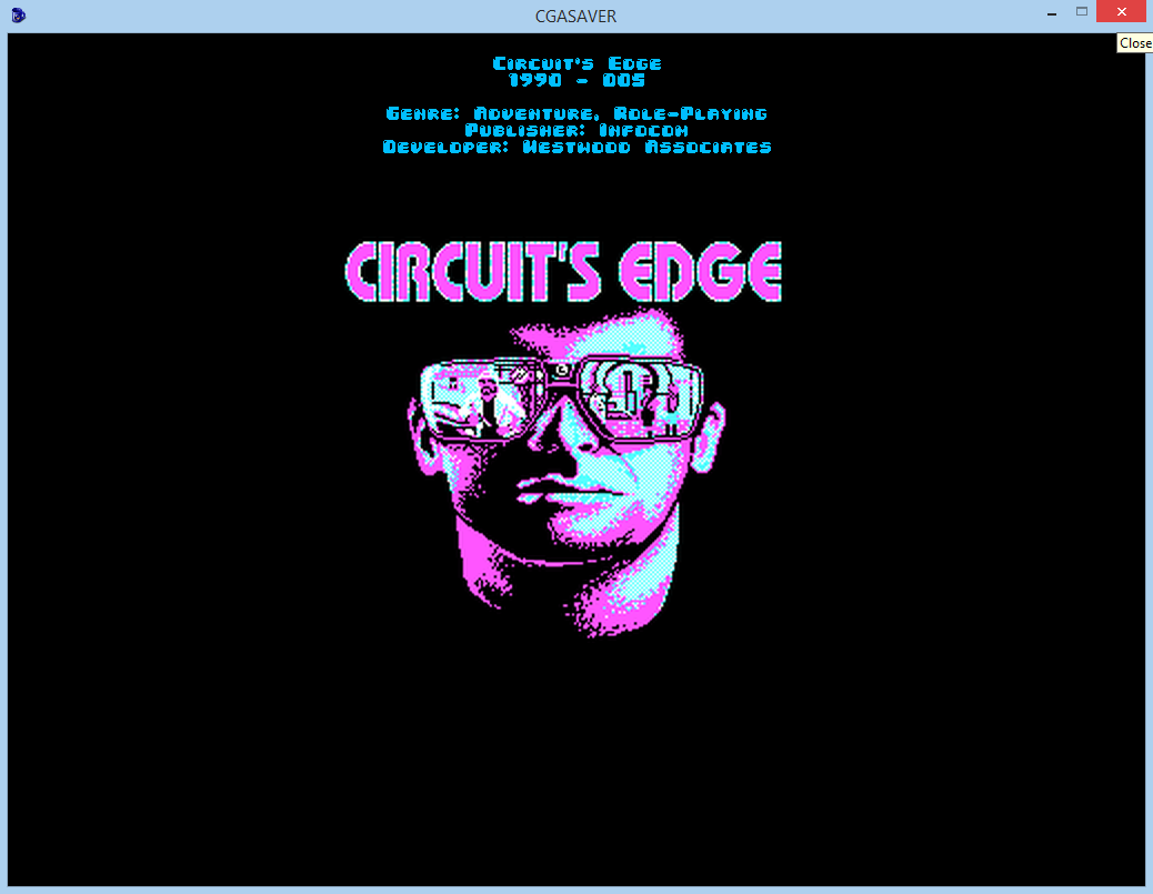Screenshot 2 of CGA games screensaver