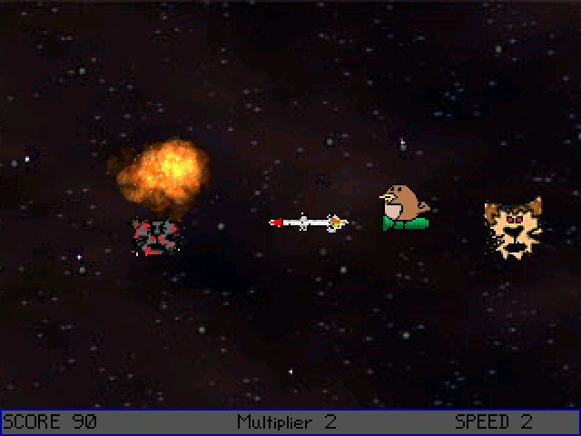 Screenshot 2 of Space Bird Missile Cats