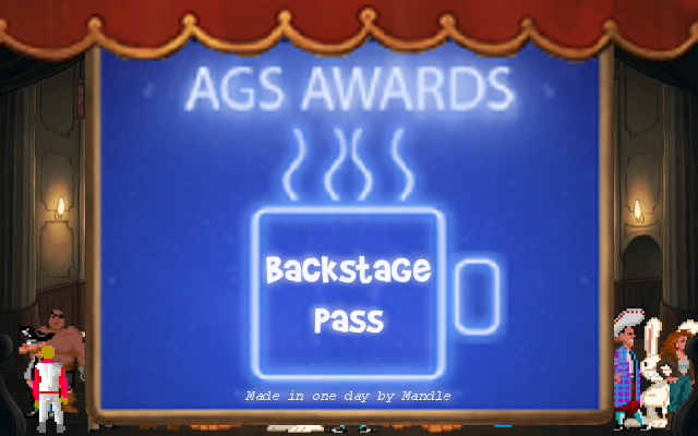 Zoomed screenshot of AGS Awards: Backstage Pass