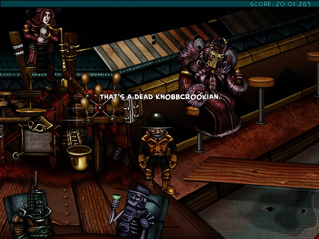 Zoomed screenshot of The Knobbly Crook:Chapter I - The Horse You Sailed In On