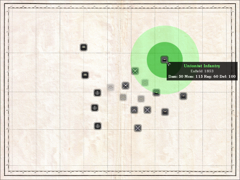 Zoomed screenshot of Tactician: Civil War
