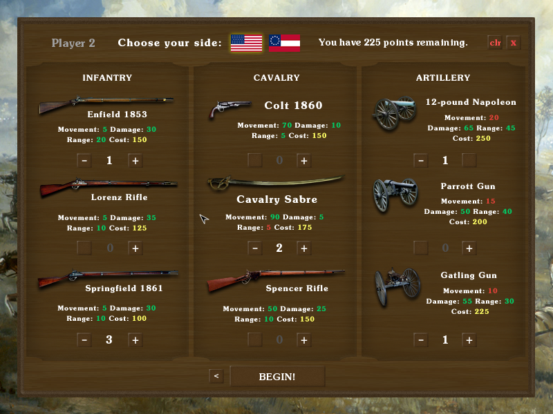 Screenshot 3 of Tactician: Civil War