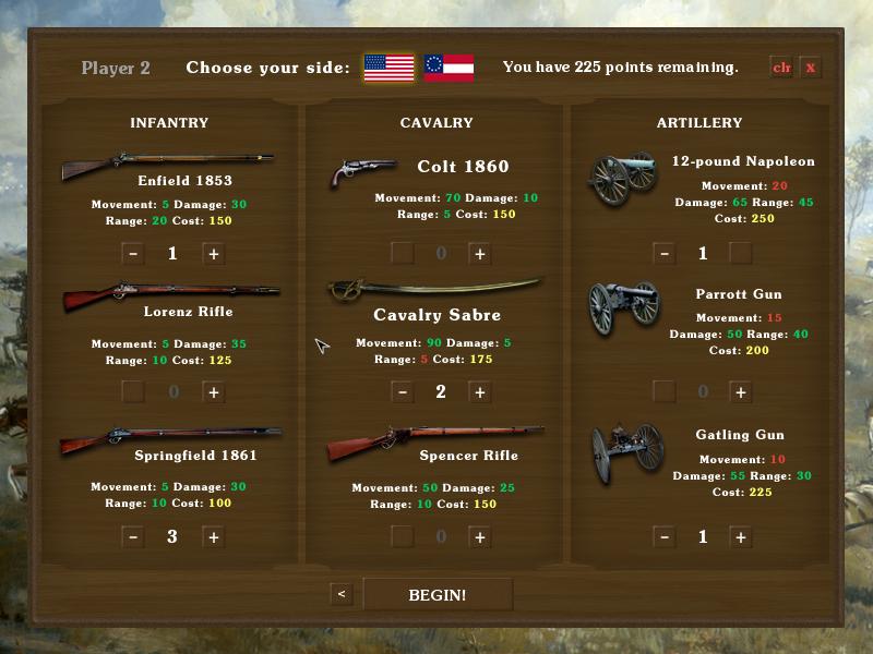 Screenshot 3 of Tactician: Civil War width=