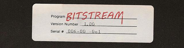 Zoomed screenshot of Bitstream